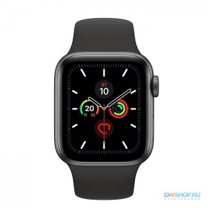 Часы Apple Watch Series 5 40 мм Aluminum Case with Sport Band Space Gray/Black (серый космос/черный) MWV82 - картинка 1
