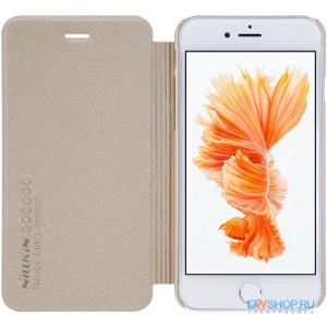 Чехол книжка NILLKIN Sparkle leather case для Apple iPhone 7 / 8 (Gold) - картинка 1